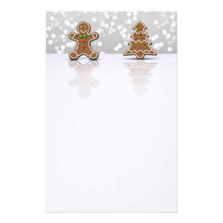 Glamour Gingerbread Man and Tree - Stationery