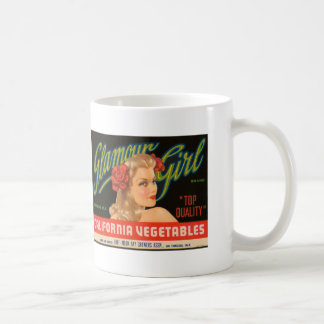 Glamour Girl California Vegetables Vintage Ad Coffee Mug