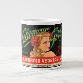 Glamour Girl California Vegetables Vintage Crate L Large Coffee Mug