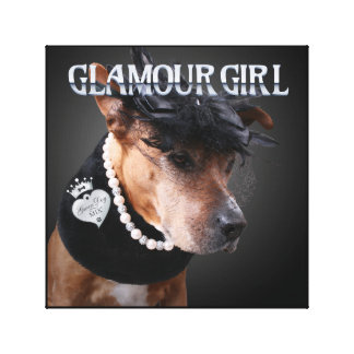 """Glamour Girl"" - Canvas Wall Art Print"