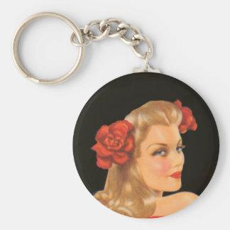 glamour girl keychain