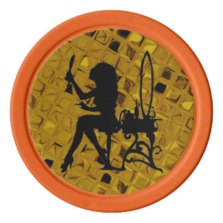 Glamour Girl Pretty is Pretty Does Yellow Diamond Poker Chips