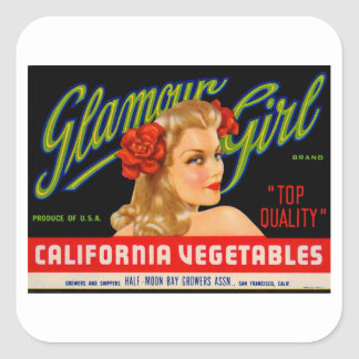Glamour Girl Square Sticker