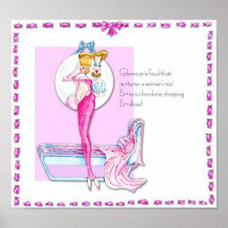 Glamour Girl Vanity Poster