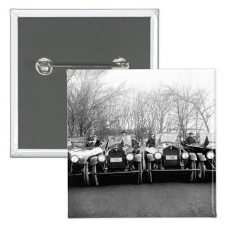 Glamour Girls & Classic Cars Vintage Photo 2 Inch Square Button