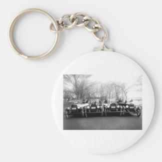 Glamour Girls Classic Cars Vintage Photo Key Chain