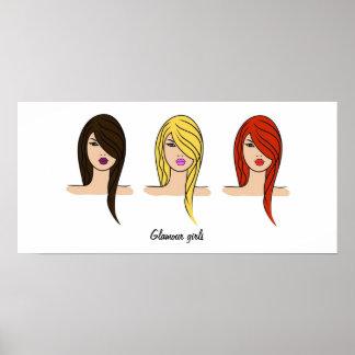'Glamour girls' poster