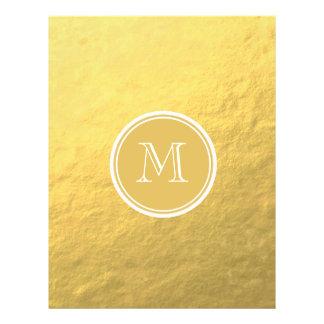 Glamour Gold Foil Background Monogram Flyer