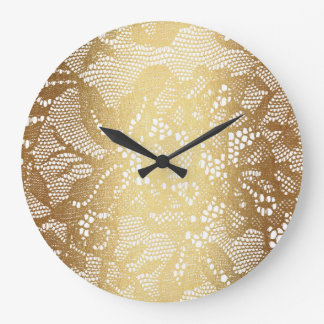 Glamour Golden Lace Clock