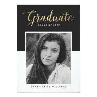Glamour Graduation Invitations | Gold