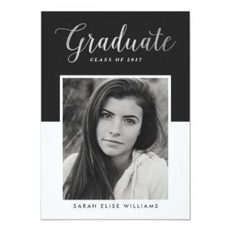 Glamour Graduation Invitations | Silver