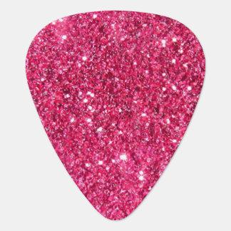 Glamour Hot Pink Glitter Guitar Pick