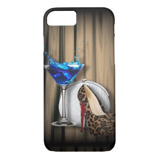glamour martini cocktail party girl stilletos iPhone 8/7 case