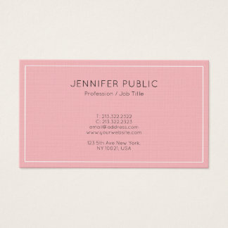 Glamour Modern Pink Plain Professional Luxury Business Card