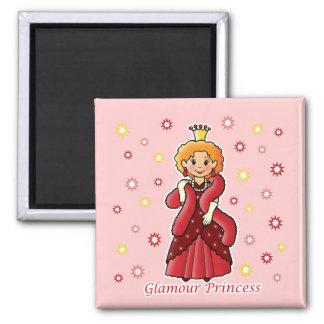 Glamour Princess Square Magnet