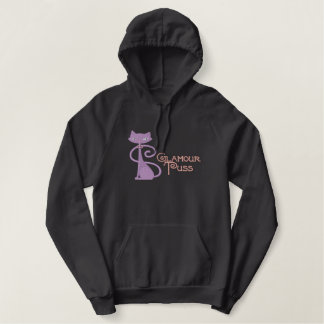 Glamour Puss Embroidered Hoodie