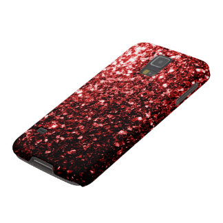 Glamour Red Glitter sparkles Samsung Galaxy S5 Galaxy S5 Cover