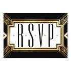 Glamourous Art Deco Geometric Wedding RSVP Card