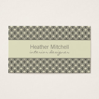 Glamourous Chic Business Card, Ivory and Gray Business Card