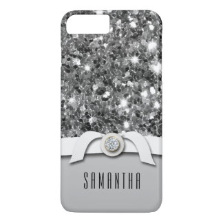 Glamourous Diamond And Silver Glitter Confetti iPhone 7 Plus Case