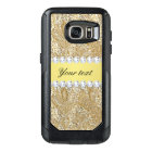 Glamourous Faux Gold Sequins and Diamonds OtterBox Samsung Galaxy S7 Case