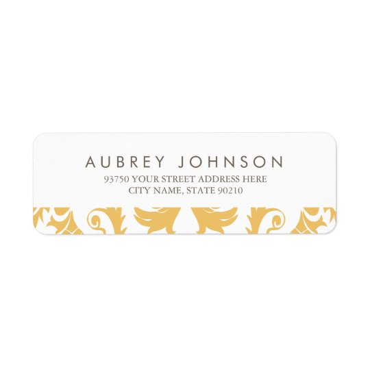 Glamourous Gold Address Labels
