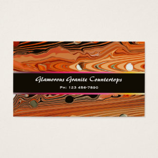 Glamourous Granite Custom Business Card