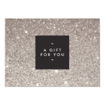 Glamourous Silver Glitter Modern Beauty Gift Card