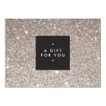 "Glamourous Silver Glitter Modern Beauty Gift Card 4.5"" X 6.25"" Invitation Card"