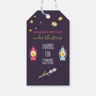 Glamping Party custom Guest Favor Gift Tags