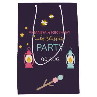 Glamping Party custom Guest Favor Medium Gift Bag