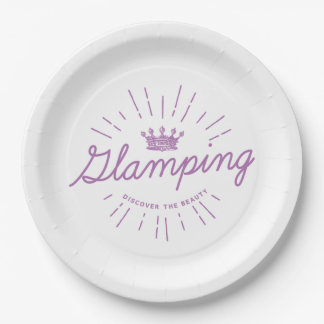 Glamping Queen Paper Plate