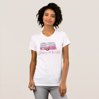Glamping With The Girls Camper RV T-shirt