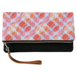 Glare from design texture background clutch