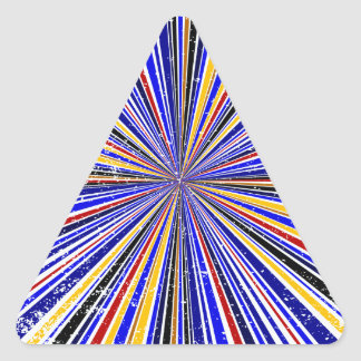 Glare Rays Background Triangle Sticker