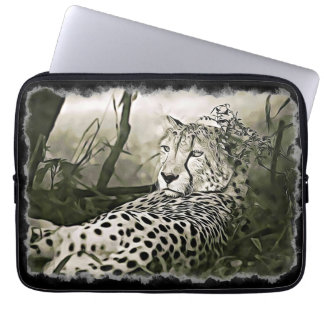 Glaring Cheetah  Digital Art Sleeve Case
