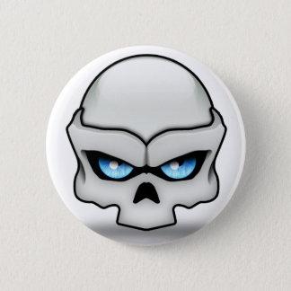Glaring skull 2 inch round button