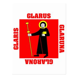 Glarus Switzerland Canton Flag Postcards