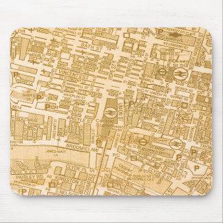 Glasgow City Map Mousepad