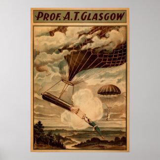 Glasgow Hot Air Balloon Circus Theatre Poster