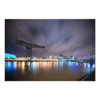 Glasgow Night Sky Long Exposure Art Photo