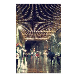 Glasgow Scotland Christmas Lights Stationery Paper