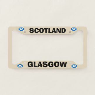 Glasgow Scotland License Plate Frame