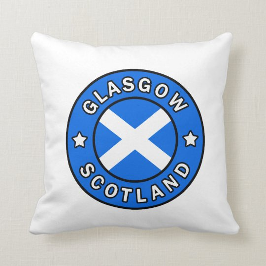 Glasgow Scotland pillow