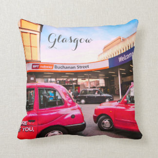 Glasgow, Scotland, Queen Street Station, pillow