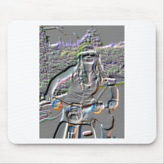 Glasha on Bike4.jpg Mouse Pad