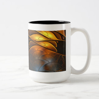 Glass and Gold Two-Tone Coffee Mug