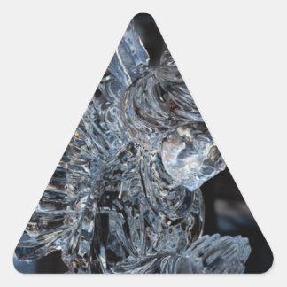 Glass Angel Praying Triangle Sticker