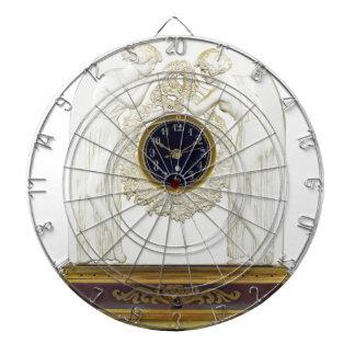 Glass Art Deco clock. Dartboard
