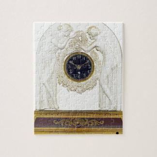 Glass Art Deco clock. Jigsaw Puzzle